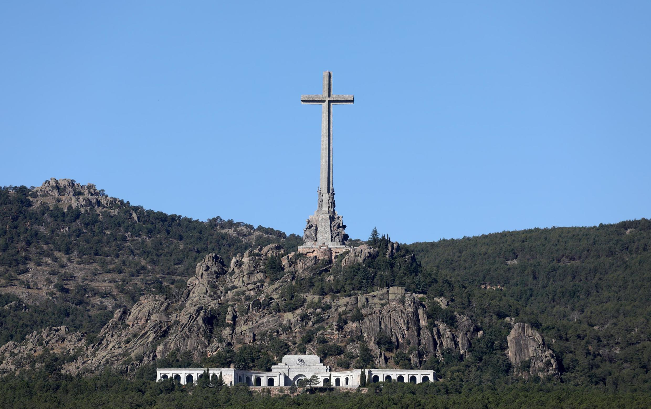 A general view of the Valle de los Caidos (The Valley of the Fallen), a mausoleum in San Lorenzo de El Escorial, Spain, where the late Spanish dictator Francisco Franco is buried, September 24, 2019.