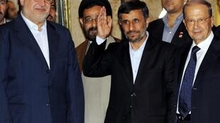 O presidente iraniano Mahmoud Ahmadinejad visita hoje vilarejos no sul do Líbano, na fronteira com Israel.