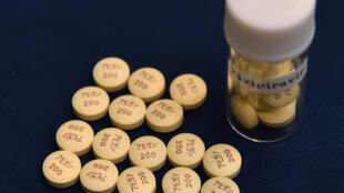 Unas pastillas del medicamento antigripal Avigan, fabricado por el grupo japonés Fujifilm, fotografiadas el 22 de octubre de 2014 en Tokio