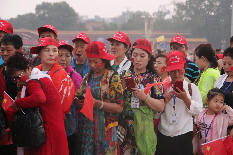 Turistas, el 4 de junio en la plaza Tiananmen de Pekín.