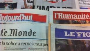 Capas diários franceses 21/3/2012