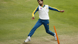 Pakistan's Mohammad Amir during nets