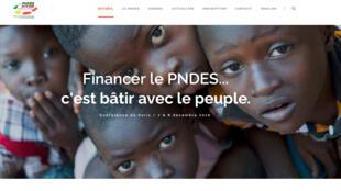 La page d'accueil du site PNDES.