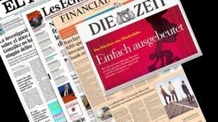 Capa dos jornais europeus: El Pais, Les Echos, Financial Times e Die Zeit desta quinta-feira, 5 de março de 2015.