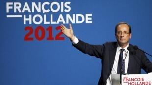 """François Hollande vai falar sobre sua história e lançar o slogam de campanha, """"a mudança é agora""""."""