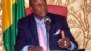 Le président guinéen Alpha Condé au palais présidentiel de Conakry, le 26 novembre 2014.