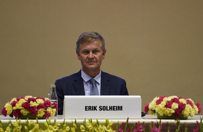 Ông Erik Solheim tại New Delhi ngày 05/06/2018 nhân Ngày Thế giới vì Môi trường.