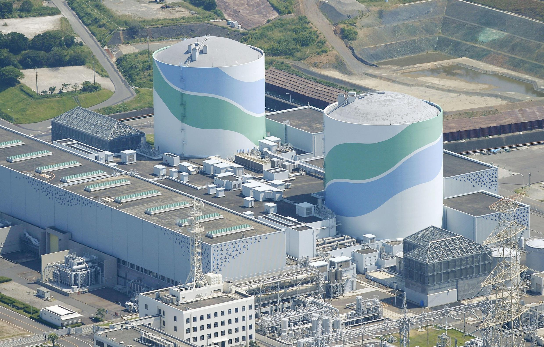 Vista aérea dos dois reatores da planta nuclear de Sendai, no Japão, nesta terça-feira, 11 de agosto de 2015.