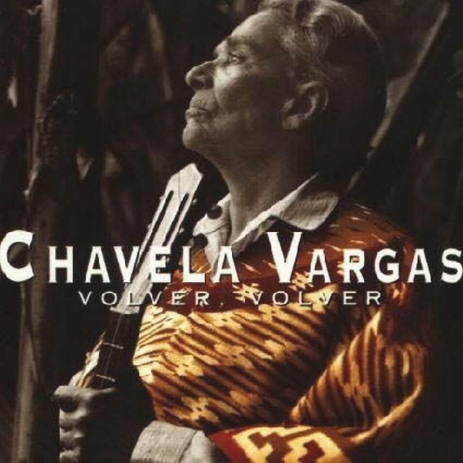 "Carátula del disco ""Volver"" de Chavela Vargas."