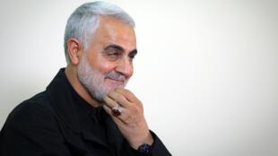 O general iraniano Qassem Soleimani, 1 de Outubro de 2009 em Teerão, no Irão.
