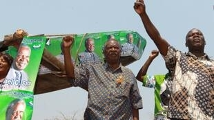 Michael Sata just before his election, 16 september, 2011.