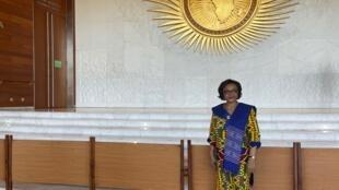 Josefa Sacko, comissária da Economia rural e Agricultura da União Africana em Addis Abeba a 6 de Fevereiro de 2020.