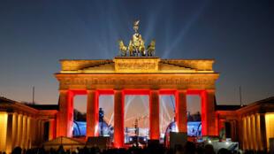 Cổng thành Brandenburg, đêm trước Giao thừa, Berlin, 30/12/2016.