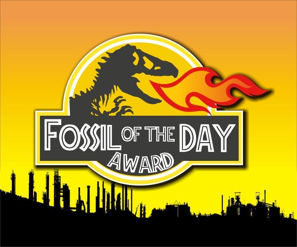 Logo del Premio Fósil para los malos alumnos del clima.