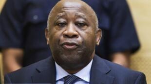O ex-presidente da Costa do Marfim, Laurent Gbagbo, a 19 de fevereiro de 2013 em Haia.