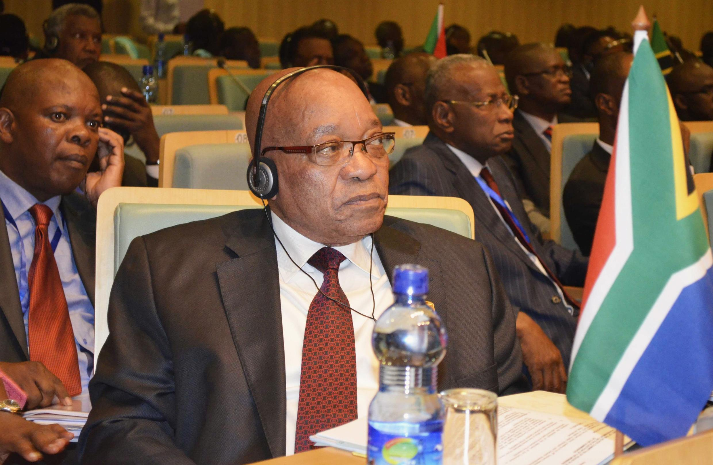 South Africa's President Jacob Zuma attends the leaders meeting at the AU summit in Addis Ababa, 14 July, 2012