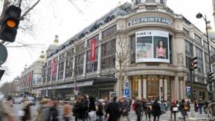 Các cửa hàng lớn Galeries Lafayette và Printemps, Paris, Pháp, mở cửa Chủ Nhật từ mùa hè năm 2015 để đón thêm khách mua sắm
