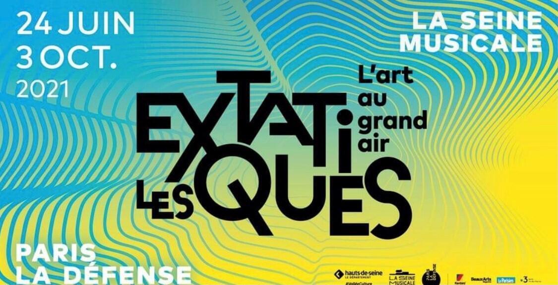 Affiche de l'exposition «Les Extatiques».