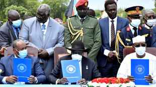 2020-10-03 sudan peace deal rebels transitional government General Abdel Fattah al-Burhan south sudan salva kiir idris deby