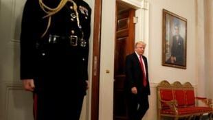 Donald Trump na Casa Branca em 27 de fevereiro de 2017