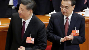 中国国家主席习近平与中国总理李克强在日前闭幕的人大会议上