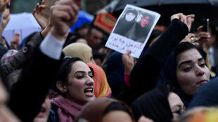 Activists protested in Kabul on March 24 demanding justice for Farkhunda.