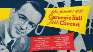 """Pochette de """"The famous 1938 Carnegie Hall jazz concert""""."""