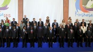 Les dirigeants des pays francophones à Kinshasa, le 13 octobre 2012.