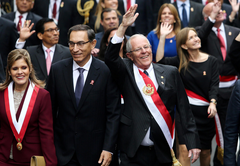 Tổng thống Peru (P) trong Ngày Độc Lập tại thủ đô Lima ngày 28/07/2017. Ảnh minh họa.