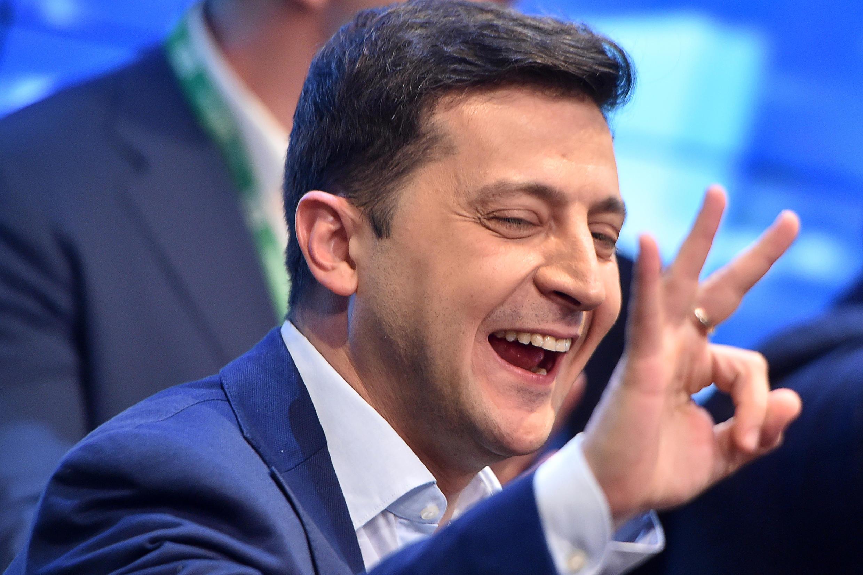 Владимир Зеленский обошел своего конкурента на 48% голосов