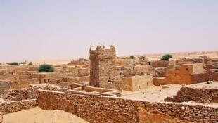 Vue générale de la vieille ville de Chinguetti en Mauritanie.
