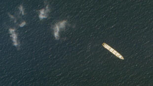 Le navire iranien Saviz, officiellement un navire commercial selon les autorités iraniennes, un navire appartenant aux Gardiens de la révolution selon d'autres d'autres sources, ici photographié en octobre 2020. Le bateau a été victime d'une explosion en mer Rouge le 6 avril.