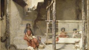 Gustave Guillaumet, «Les Tisseuses de Bou Saada», 1887, huile sur toile.