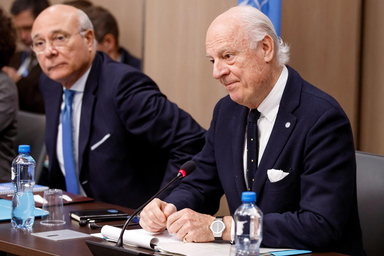 Đặc sứ Liên Hiệp Quốc Staffan de Mistura công nhận đàm phán Syria tại Genève thất bại. Ảnh chụp ngày 14/12/2017.