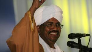 Rais wa Sudan Omar al-Bashir wakati wa hotuba yake kwa chama cha National Congress Party, Oktoba 23, 2014.