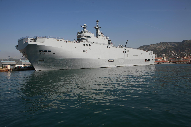 Chiến hạm Mistral (L9013) của Pháp. Ảnh tư liệu.