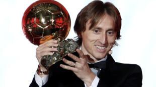 Luka Modric na kungiyar Real Madrid.