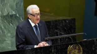 Lakhdar Brahimi, le médiateur de l'ONU pour la Syrie.