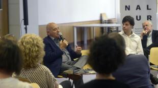 Diretor geral da Bienalsul e reitor da Universidade Tres de Febrero, Aníbal Jozami.
