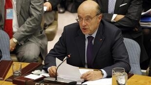 Alain Juppé at the UN Security Council in New York at the end of January