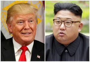 Tổng thống Mỹ Donald Trump (T) và lãnh đạo Bắc Triều Tiên Kim Jong Un.