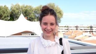 L'actrice belge Salomé Richard au Festival de Cannes. Dans le film « Rêves de jeunesse » d'Alain Raoust, elle incarne le rôle de Salomé.