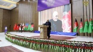 محمد اشرف غنی، رییس جمهوری افغانستان در مراسم گشایش راه لاجورد در ولایت هرات