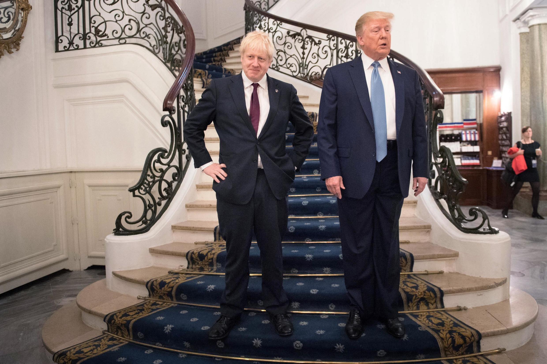 Firaministan Birtaniya  Boris Johnson a wata ganawa da Donald Trump Shugaban Amurka a taron Faransa