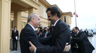 ملاقات امیر قطر و رئیس جمهوری ترکیه در استنانبول در نوامبر 2018