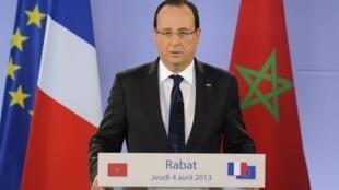 French President François Hollande in Rabat, Thursday