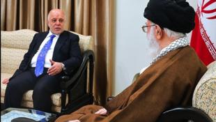 دیدار آیتالله خامنهای با حیدر عبادی، نخست وزیر عراق. پنج شنبه ۴ آبان/ ٢۶ اکتبر ٢٠۱٧