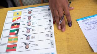 Boletim de voto eleições gerais angolanas