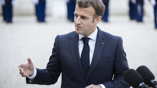 El presidente francés, Emmanuel Macron, en el Elíseo, el 29 de abril de 2021.