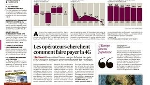 Capa do jornal francês Le Echos desta quinta-feira, (28)